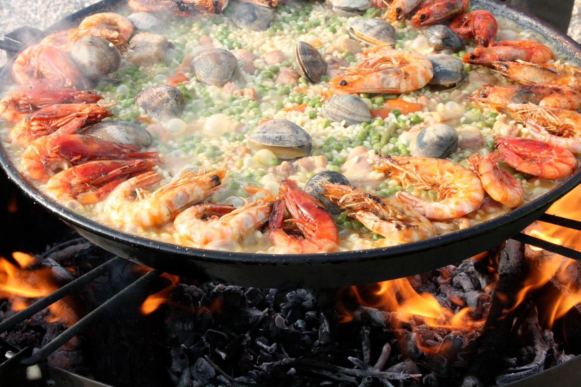 Paella - Lena - Mixed - Seafood - Shrimp - Prawn - Valencia - Spain
